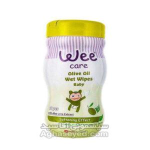 دستمال مرطوب سیلندری مارک وی کر(Wee Care) کد 00201270