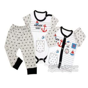 لباس سه تیکه طرح ملوان مارک لایت کد00201019