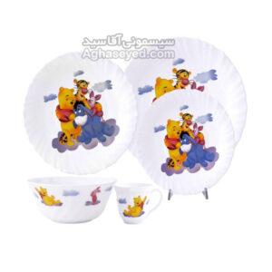 ظرف غذای کودک 5تکه پارس اوپال طرح گرد کد00201253
