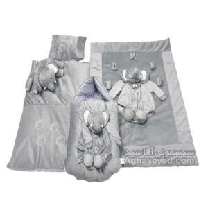 سرویس خواب مخمل فیل مارک گل جامگان کد00202996