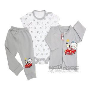 لباس سه تیکه طرح ماشین مارک لایت کد00201019