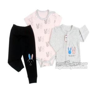 لباس سه تیکه طرح خرگوش مارک لایت کد00201019