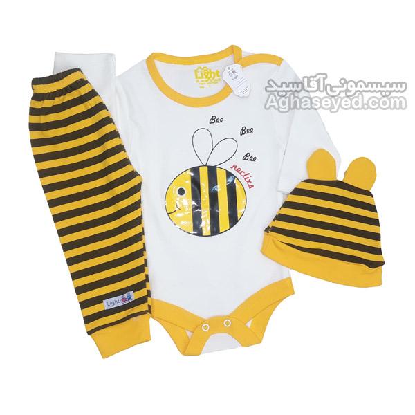 لباس سه تیکه طرح زنبور مارک لایت کد00202820