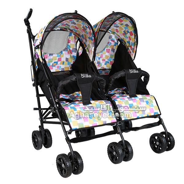 کالسکه عصایی دوقلو نوزادی دلیجان مدل دیبا کد00203142
