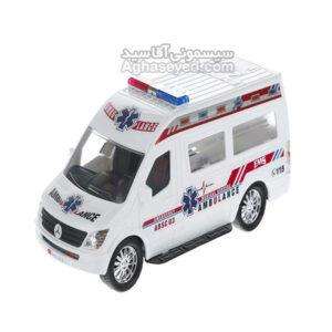 ماشین اسباب بازی مدل آمبولانس مارک دورج کد00201441