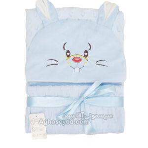 پتو دورپیچ نوزاد طرح خرگوش یونیک کد00201064