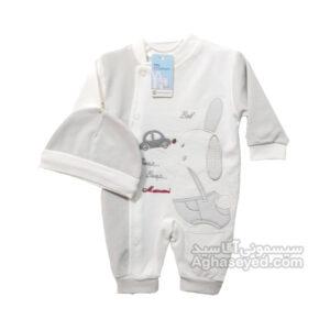 لباس سرهمی نوزادی مامانی757 کد00206034