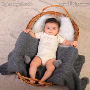 ست 3 تکه لباس نوزادی دانالو طرح زرافه و فیل کد00210011