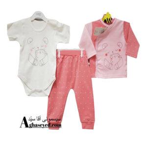 ست 3 تکه لباس نوزادی گود مارک طرح خرس کد00210008
