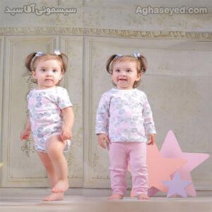 ست 3 تکه لباس نوزادی دانالو طرح توپ توپی کد00210011