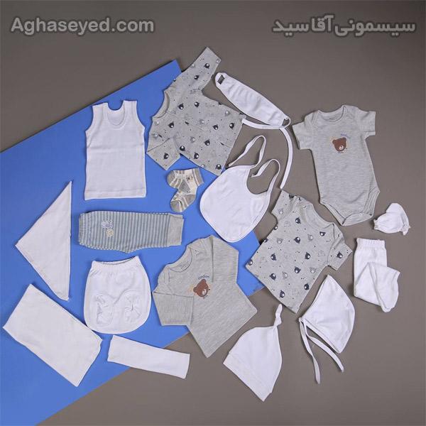 ست 19 تکه لباس نوزادی دانالو طرح خرس کد00210010