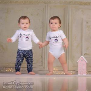ست 3 تکه لباس نوزادی دانالو طرح کیوت کد00210011