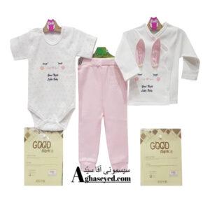 ست 3 تکه لباس نوزادی گودمارک طرح خرگوش کد00210008