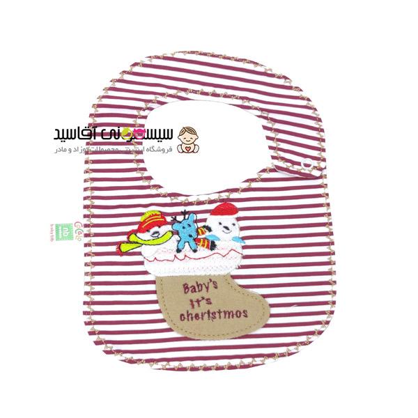 پیشبند نوزادی کوکالو طرح کریسمس کد00206043